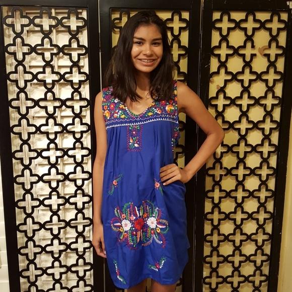 604361fb215 NWT VACAY COBALT BLUE MEXICAN DRESS